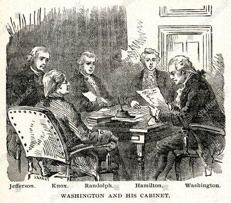George Washington 1732 1799 And His Cabinet: Thomas Jefferson 1743 1826, ...