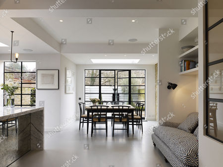 Stock Photo Of Open Plan Kitchen And Dining Towards Garden. North  Kensington Home, London ...