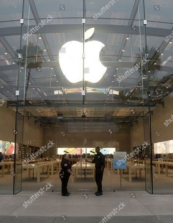Iphones stock photos editorial images and stock pictures shutterstock security wait at the door outside an apple store in santa monica california usa 20 september planetlyrics Gallery