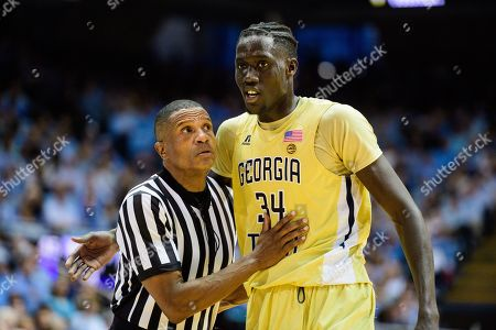 Georgia Tech Yellow Jackets Forward Abdoulaye Gueye (34) And Referee Ted  Valentine During The ...