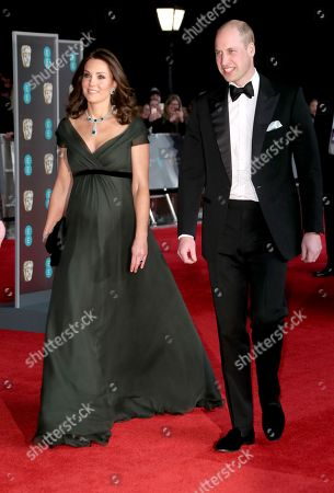Prince William and Catherine Duchess of Cambridge attend 71st British Academy Film Awards