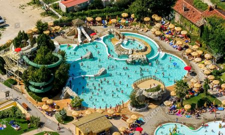 Aerial View Of Piani Di Clodia Camping, Campsite, Swimming Pool And Sun  Terrace With ...
