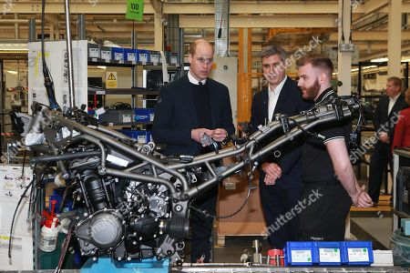 Prince William visits the Triumph Motorcycles and MIRA Technology Park, Hinckley