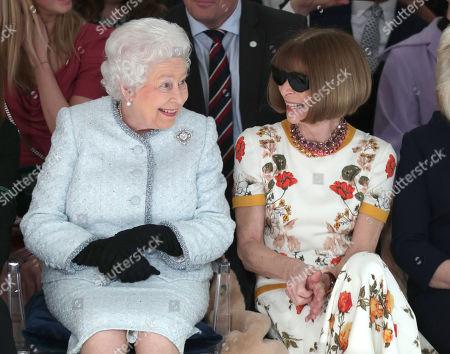 Queen Elizabeth II attends London Fashion Week