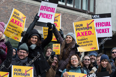 University and College Union pension protest, London