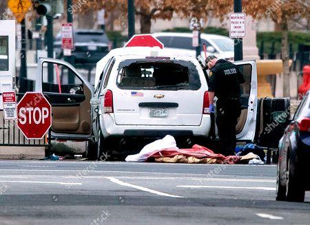 Vehicle hits security barrier near White House, Washington DC