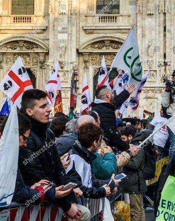 Lega Nord political rally, Milan